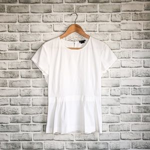 Theory Fitted White Blouse